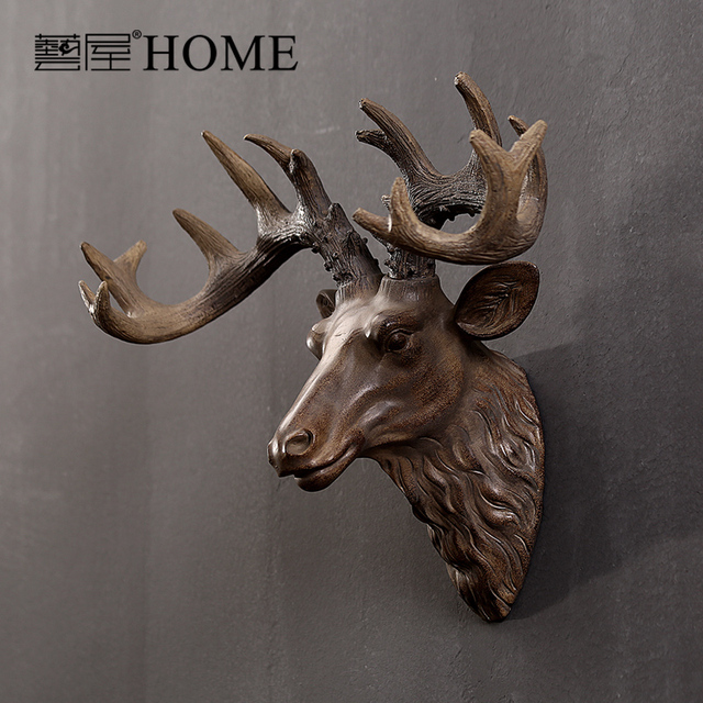 Moose Wall Decor aliexpress : buy american rustic style retro wall decor