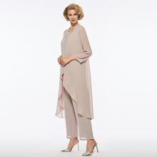 Dressv Sheath Mother Of The Bride Dress Pants Suit Long Sleeves Long Elegant Formal Party Mother Of The Bride Dress Custom