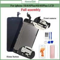 AAA + LCD Für iphone 6 6Plus 6S Plus LCD Vollversammlung Komplett Mit 3D Touchscreen Ersatz display für iphone 5S LCD Kamera