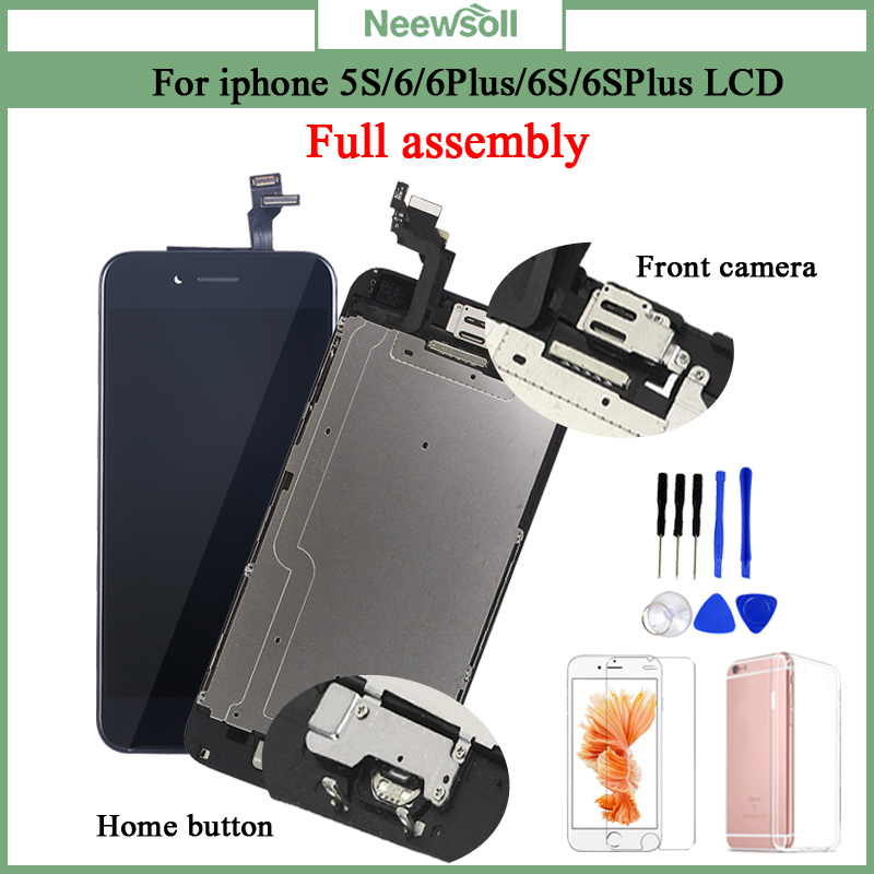 AAA+ LCD For iPhone 6 6Plus 6S Plus LCD Full Assembly Complete With 3D Touch Screen Replacement Display for iphone 5S LCD Camera image