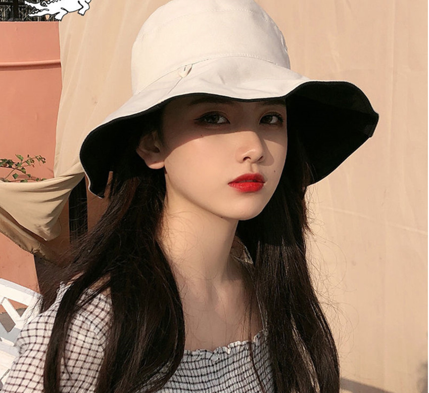 Summer Hat Sun Hat Foldable Sun BlockRaffia Bow Sun Hat Wide Brim Floppy Summer Hats For Women Beach Hat Double-sided Wearable