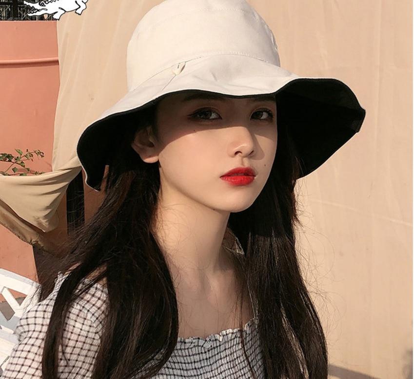 Summer Hat Sun Hat Foldable Sun BlockRaffia Bow Sun Hat Wide Brim Floppy Summer Hats For Women Beach Hat Double-sided Wearable