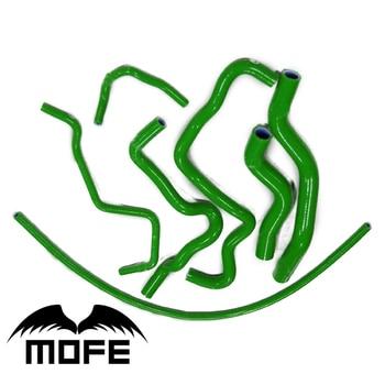 Original Logo 7PCS Radiator Heater Coolant Silicone Hose For Civic  K10 7th Generation 2001-2005 Green