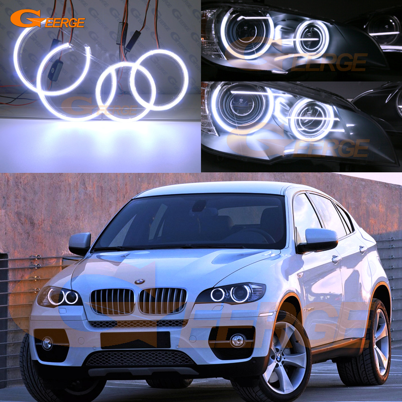 For BMW X6 E71 E72 X6M E70 X5M 2008-2014 Xenon headlight Excellent Ultra bright illumination COB led angel eyes kit снегоуборщик patriot phg 72 e 6 5л с [426108495]