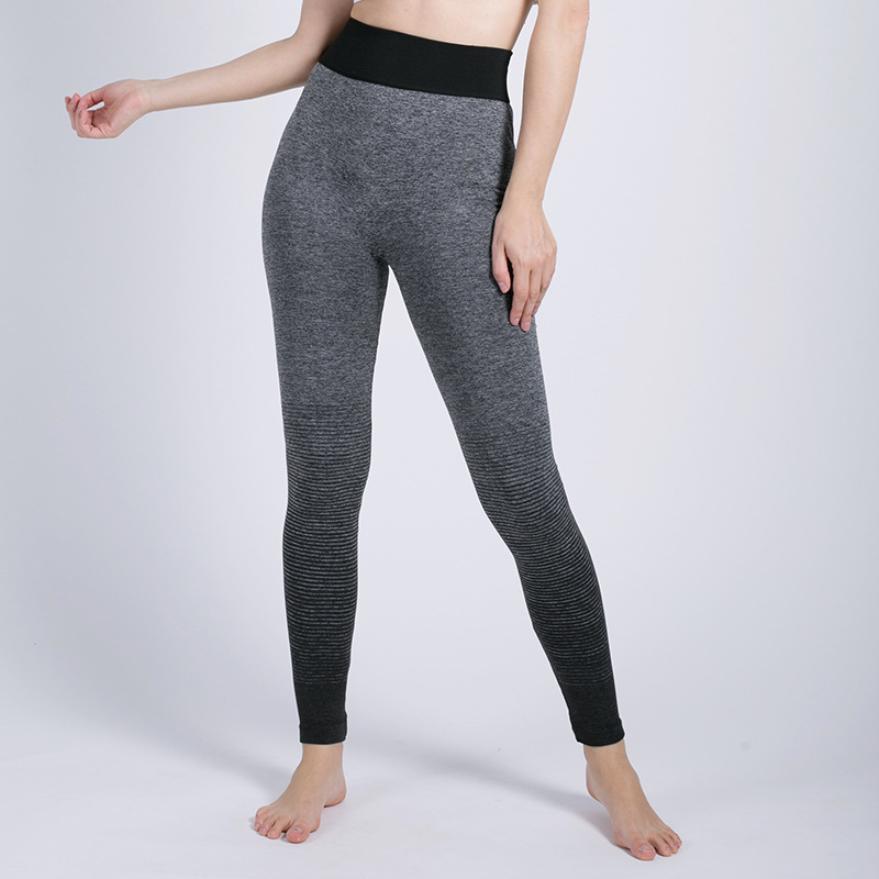 Sport Trousers Women Exercise Hip Lifting Classic Gradient