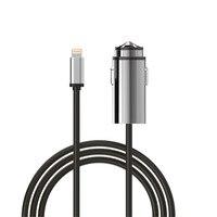 Auto Ladegerät, Mini Auto Ladegerät mit Blitz-ladekabel Metallic Power Adapter für Apple iPhone iPad iPod, Samsung Android