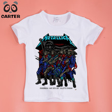 Boy and Girl Print Heavy Metal Rock Metallica T-shirt