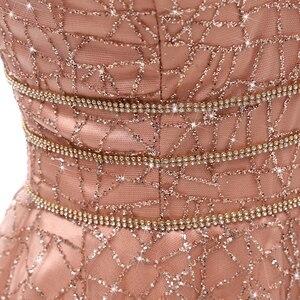 Image 5 - VKbridal Glitter Deep V neck Mini Length Crystal Graduation Dress Sparkling Prom Gowns Junior for Girl Short Homecoming Dresses