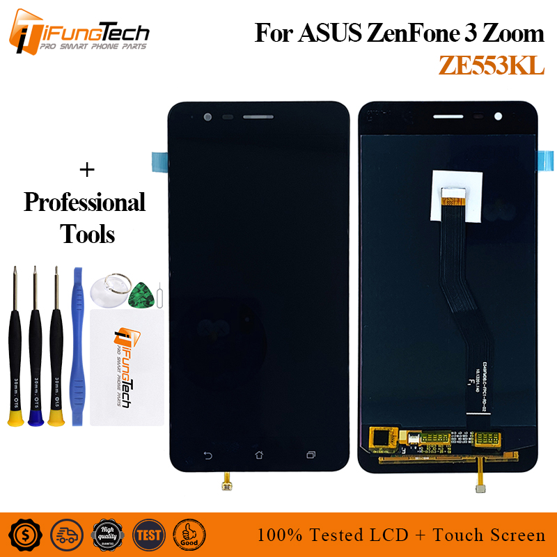 """For 5.5"""" Asus ZE553KL LCD Display Touch Screen Digitizer Assembly For Asus Zenfone 3 Zoom ZE553KL LCD Z01HDA Screen Replacement"""