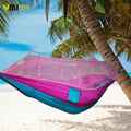 Portable Hammock 260x140cm Single-person Mosquito Net Hammock Hanging Swing Bed Outdoor Furniture Swing For Travel Camping