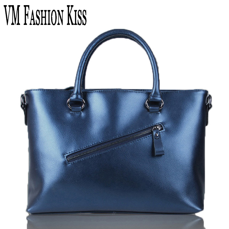 VM FASHION KISS Import Genuine Leather Women Large Capacity Totes Simple Cowhide Shoulder Bag Famous Brand Luxury Handbags luxury genuine leather bag fashion brand designer women handbag cowhide leather shoulder composite bag casual totes