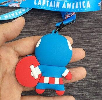 Шнурок на шею с брелком Капитана америки 1