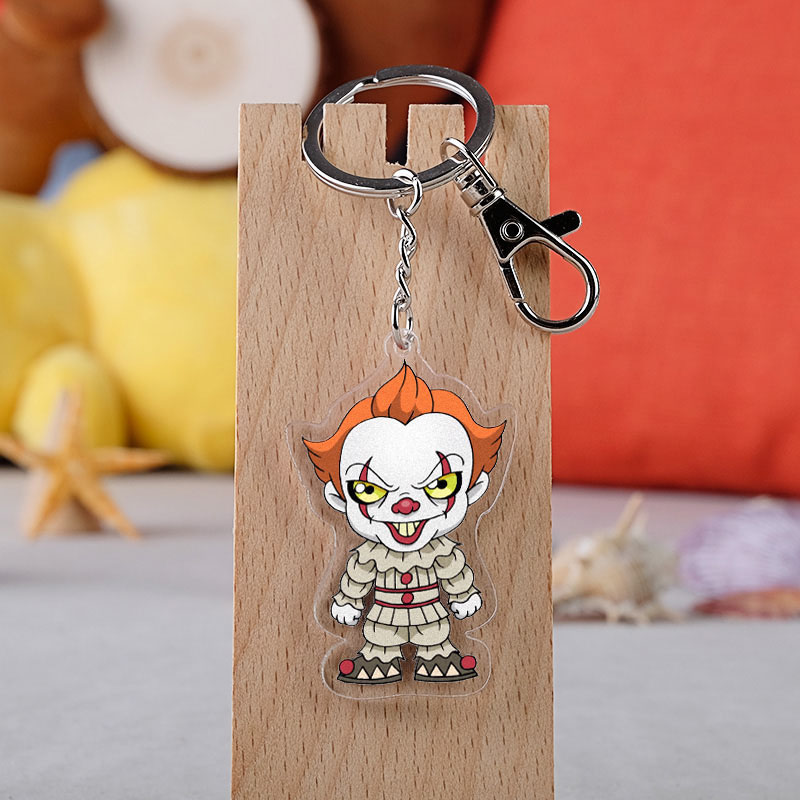 Assassin's Creed Clown  Keychain Alien Ghost Baby Clown Evil Knight Transparent Pendant