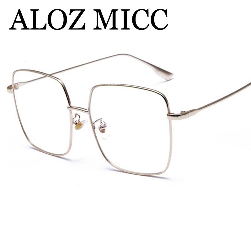 Aloz MICC mujeres lente ojos Gafas Marcos para hombres retro ojo ...