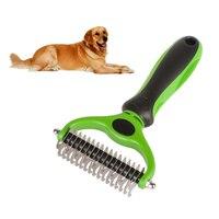 Double Side Pet Fur Dog Brush Dematting Matbreaker Cat Grooming Deshedding Trimmer Tool Dog Comb Pet