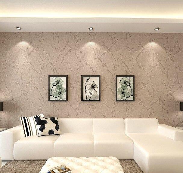 pure folha de papel de parede n o tecido papel de parede em relevo rolo imperme vel papel de. Black Bedroom Furniture Sets. Home Design Ideas