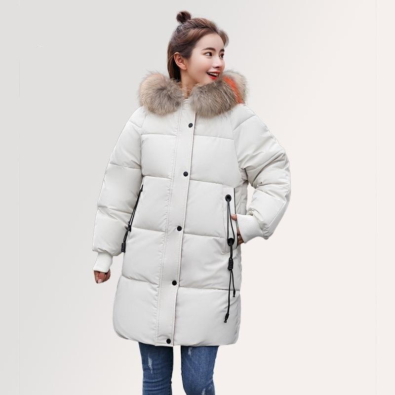 Manteau De Veste Noir Taille blanc Pour Femme marron Fourrure Soild Long D'hiver Femelle Femmes Plume Faux Col Parc La D'oie Le En Xxs 3xl Plus Parka nwYRw6gWqr