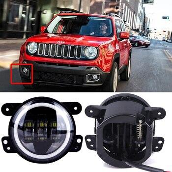 2PCS/Pair 4 Inch 30W LED Fog Light For Jeep Wrangler JK 07~14 High Power LED Fog Lamp Auto DRL Lighting Led Headlamp