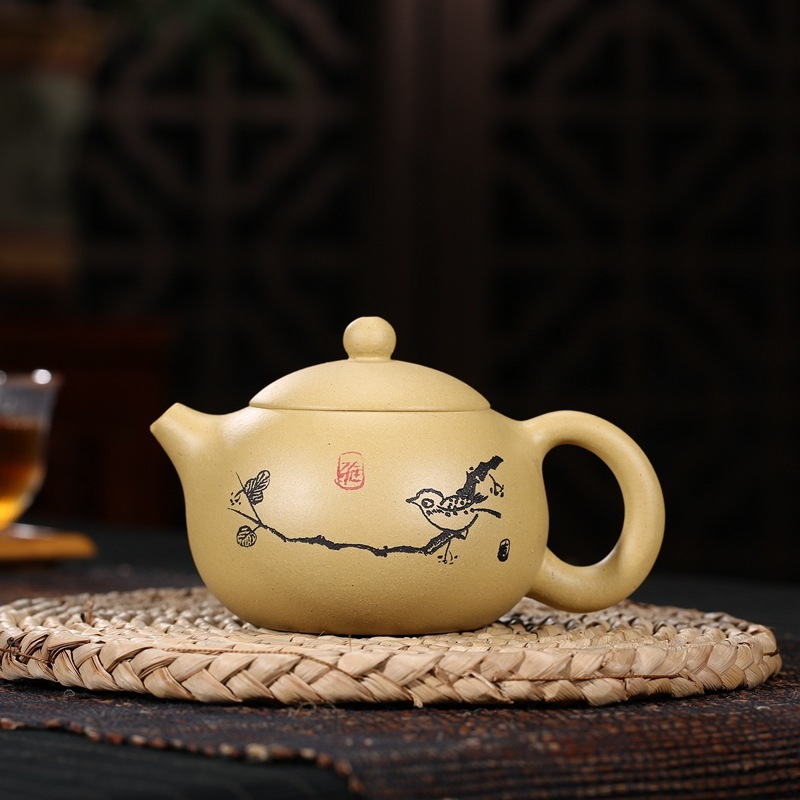 pot of rhyme yixing undressed ore gold period of sea mud by manual recommended the teapot and xi shi pot of hot stylepot of rhyme yixing undressed ore gold period of sea mud by manual recommended the teapot and xi shi pot of hot style