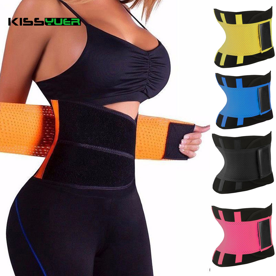KISSyuer S-XXL Female Waist Trainer Cincher Man Women Power Hot Body Shaper Belt Underbust Control Corset Firm Slimming KC205