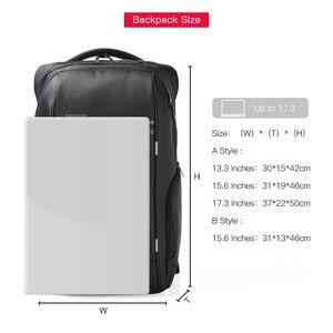 Image 3 - Kingsons 15 inç Laptop sırt çantaları USB şarj Anti hırsızlık sırt çantası erkekler seyahat sırt çantası su geçirmez okul çantaları erkek Mochila