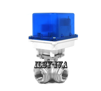 DC12V/24V DN8~DN25 3-way electric valve,fixed-type Stainless steel motorized ball valve