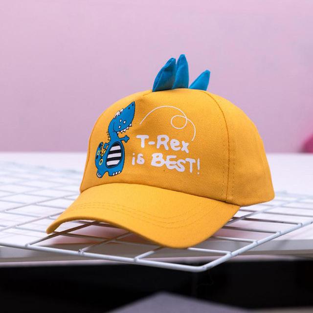 Doitbest 2-8 Years old Spring Children Baseball Cap Boys Girls Dinosaur style Snapback adjustable Kids Hip Hop Hat Sun cap