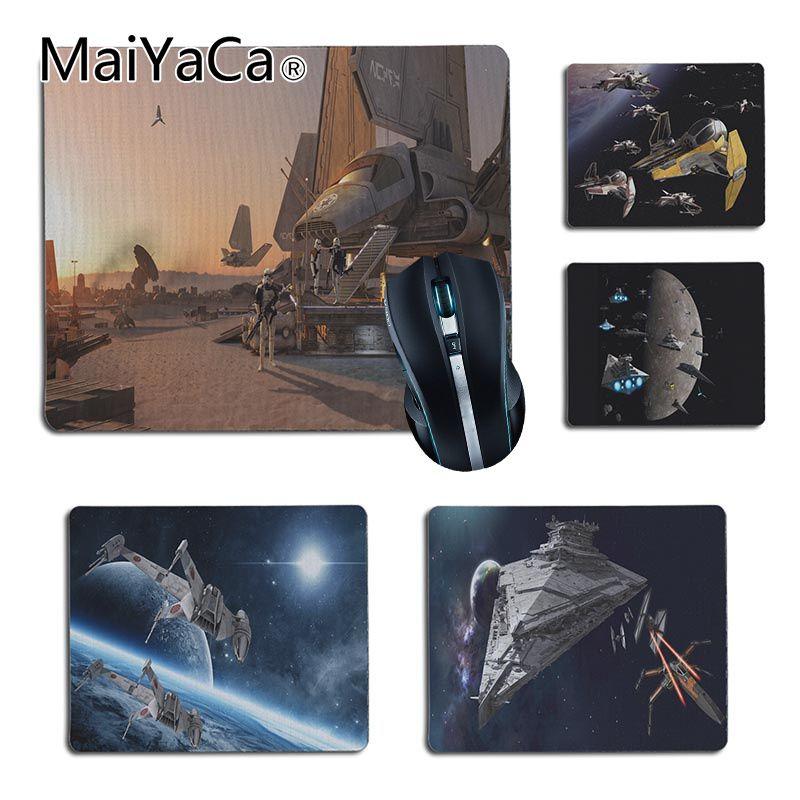 MaiYaCa фильмов Star Wars корабли пространство высокое Скорость новый коврик Размеры для 25X29 см 18x22 см игровые коврики
