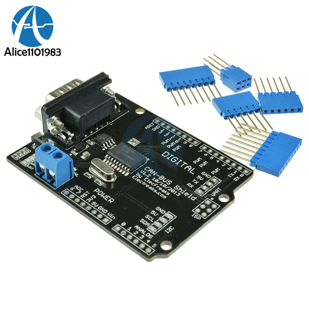 MCP2515 EF02037 CAN BUS Shield Controller Board Communication Speed High CAN V2.0B Module For Arduino For Freaduino DIY KITMCP2515 EF02037 CAN BUS Shield Controller Board Communication Speed High CAN V2.0B Module For Arduino For Freaduino DIY KIT