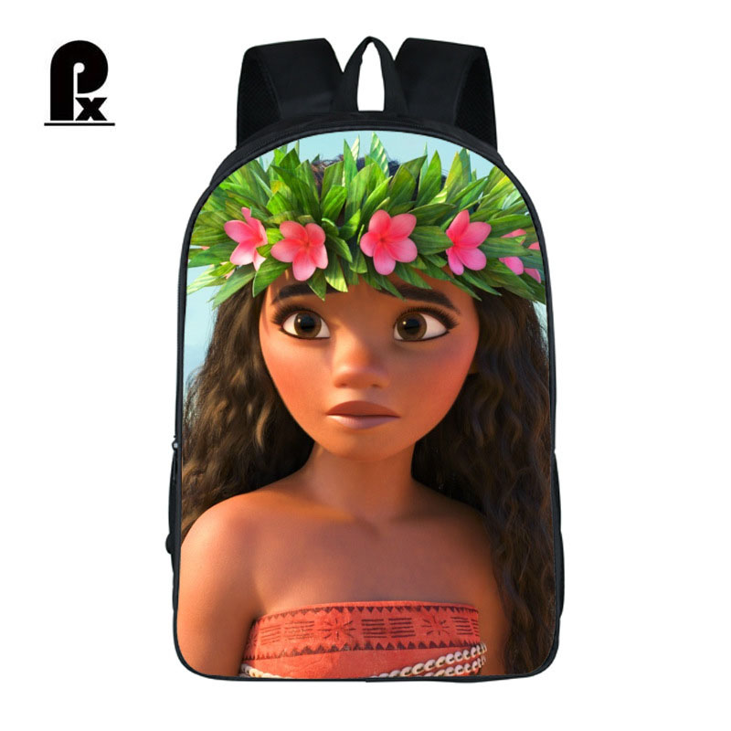 Pacento Moana Anime Movie Backpack Shoulder Bags Students Children Backpack School Bags Laptop Backpack Fashoin Leisure Bag Pack