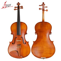 TONGLING Handmade Antique Viola Maple Wood Nature Flamed Matt Viola w/ Case Bow Rosin Strings Stringed Instruments 15-16