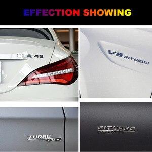 Image 2 - 플랫 크롬 W212 W213 자동차 엠블럼 E200 E250 E300 E320 E350 편지 배지 자동 4MATIC 로고 Emblema De Carro For Mercedes Benz AMG