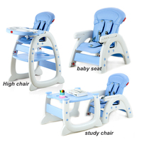 free shipping 3 in 1 baby dining chair seat multifunctional kids child eating table highchairs seat children feeding chair
