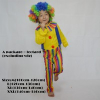 Cosplay Circus Clown Costume Cosplay Halloween Costume Dress Performance Clothing Stage Clothes Clothing Easter Costumes