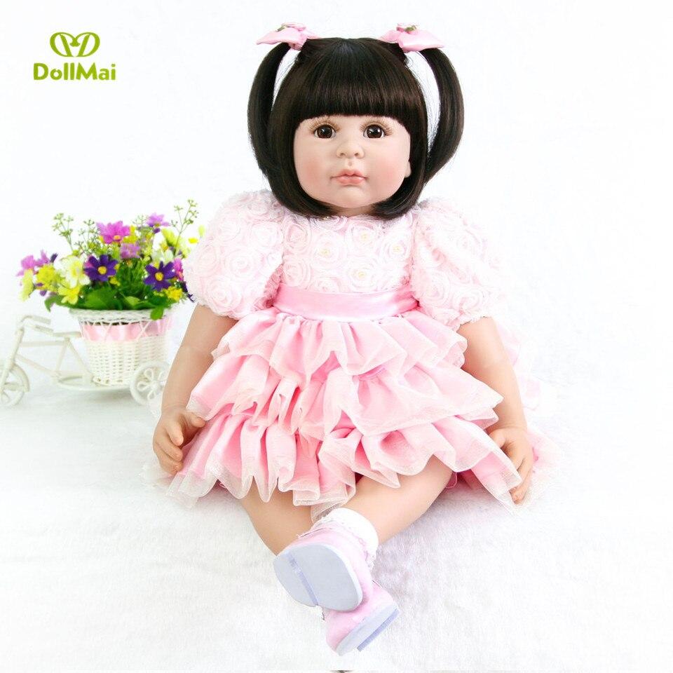 Sicily DollMai Princess Toddler Doll 24 inch 60CM Silicone Vinyl Lifelike Baby Girl