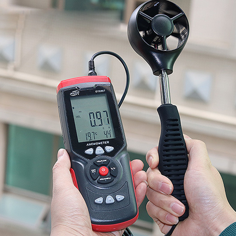 GT8907 Instruments de mesure de vitesse anémomètre Lcd numérique compteur de vitesse du vent capteur Portable 0.1-45 m/s anémomètre compteur de vitesse du vent - 4