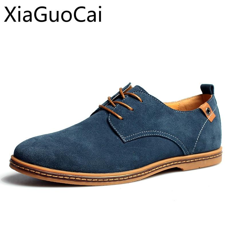 Plat Automne gray green Et Respirant black Confortable Camel Deux Chaussures Angleterre Sneakers brown Printemps khaki couche Hommes Casual blue Classique cFJTlK1