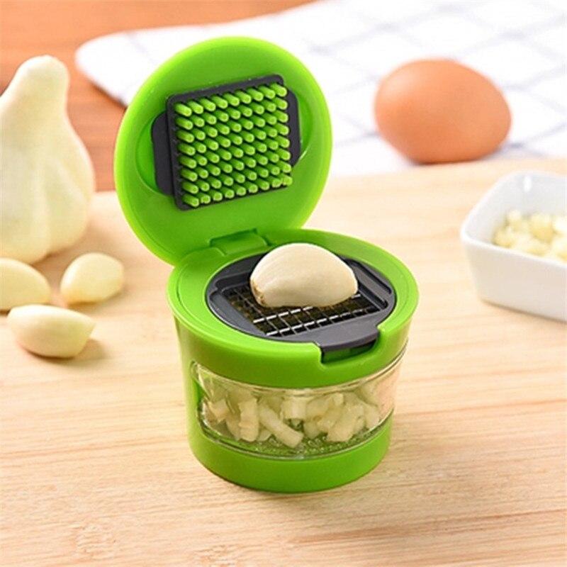 Hand Presser Plastic Stainless Steel Garlic Press Grater Mincer Garlic Grinder Dicer Home Kitchen Cooking Tools Accessories