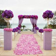 100 шт. для свадебного мероприятия вечерние украшения шелковые лепестки роз стол Искусственные цветы Обручение празднование, вечеринка принадлежности чел