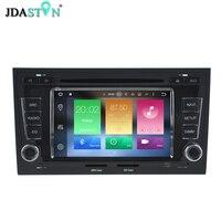 JDASTON 2 DIN 4 GB Ram Android 6.0 Jogador Do Carro DVD Para AUDI A4 S4 2002-2008 Octa Núcleo Bluetooth Radio Navegação GPS Multimídia