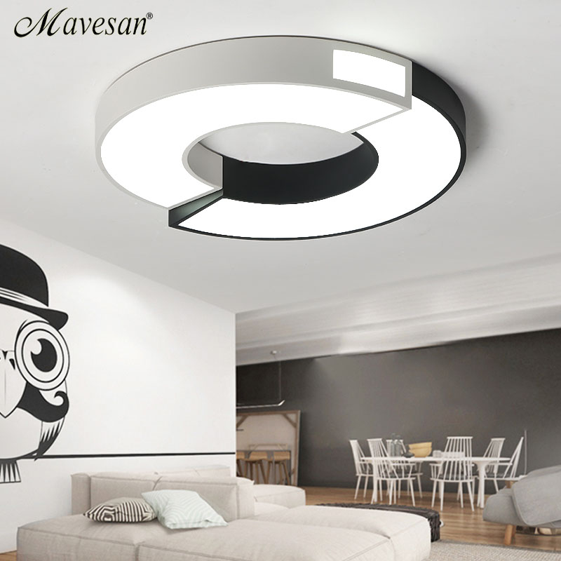 Modern LED Ceiling Lights For Living Room Art Celling Lamps Oval Shape White Dining Room Bedroom Lighting Fixture Lanterns