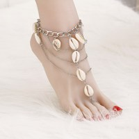 Fashion 2017 Ankle Bracelet Wedding Barefoot Sandals Beach Foot Jewelry  Sexy Pie Leg Chain Female Boho d1bef7cd0465