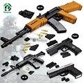 M16 Automatic Rifle AK 47 Pistola de Bloques de Construcción de Gran Tamaño Modelos y Construcción de Armas Del Ejército Militar establece Ladrillos Compatible Juguete bloques