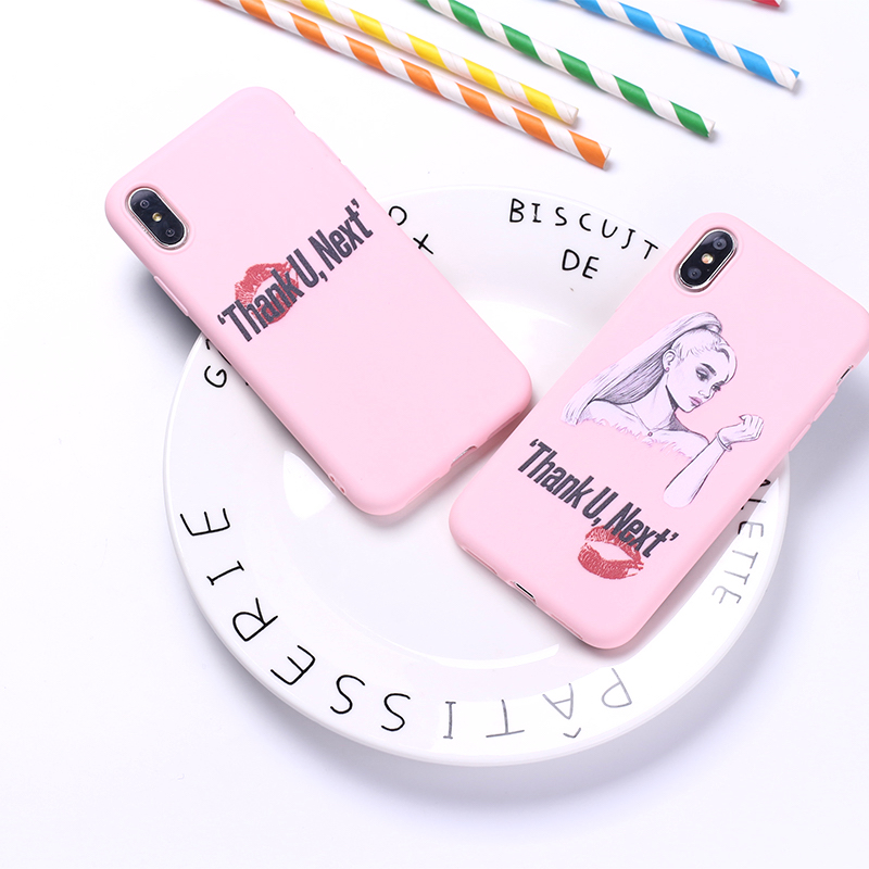 Thank You Next Ariana Grande 7 Rings Soft Silicone Candy Case Coque For iPhone 11 Pro 6 6S 8 8Plus X XR XS Max 7 7Plus 8Plus 3