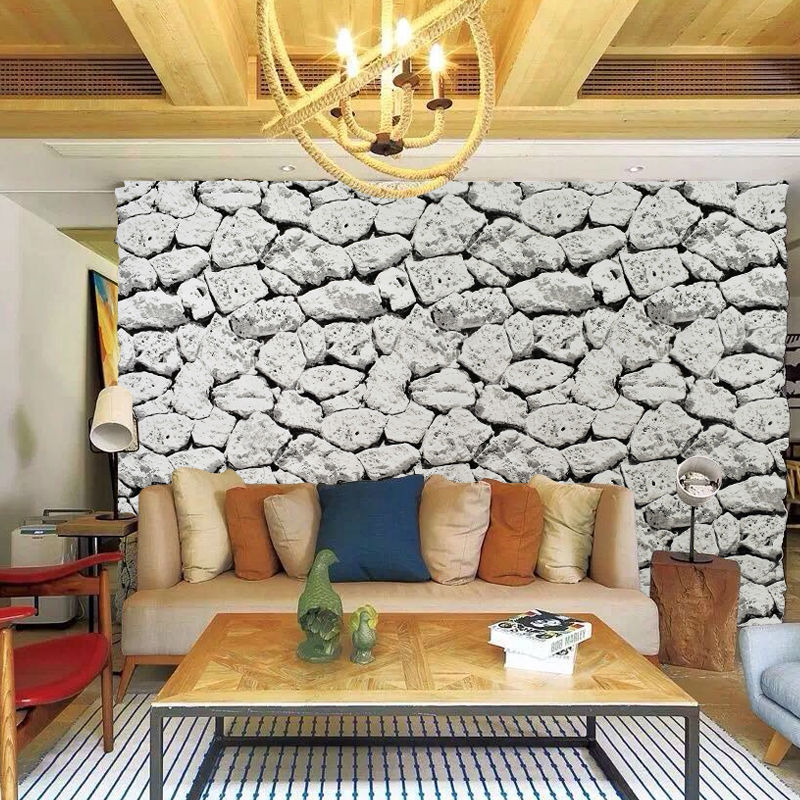 European Vintage 3D Real Look Realistic Rock Stone Non-woven Waterproof Wallpaper Real Deep Embossed  Wall paper Roll home decor акриловая ванна alpen alaska 160x70 комплект