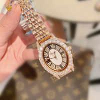 สุดหรูคริสตัลเพชรผู้หญิงนาฬิกาผู้หญิง Rhinestone ประกายสุภาพสตรีนาฬิกาผู้หญิงนาฬิกา bayan kol saati dames horloge