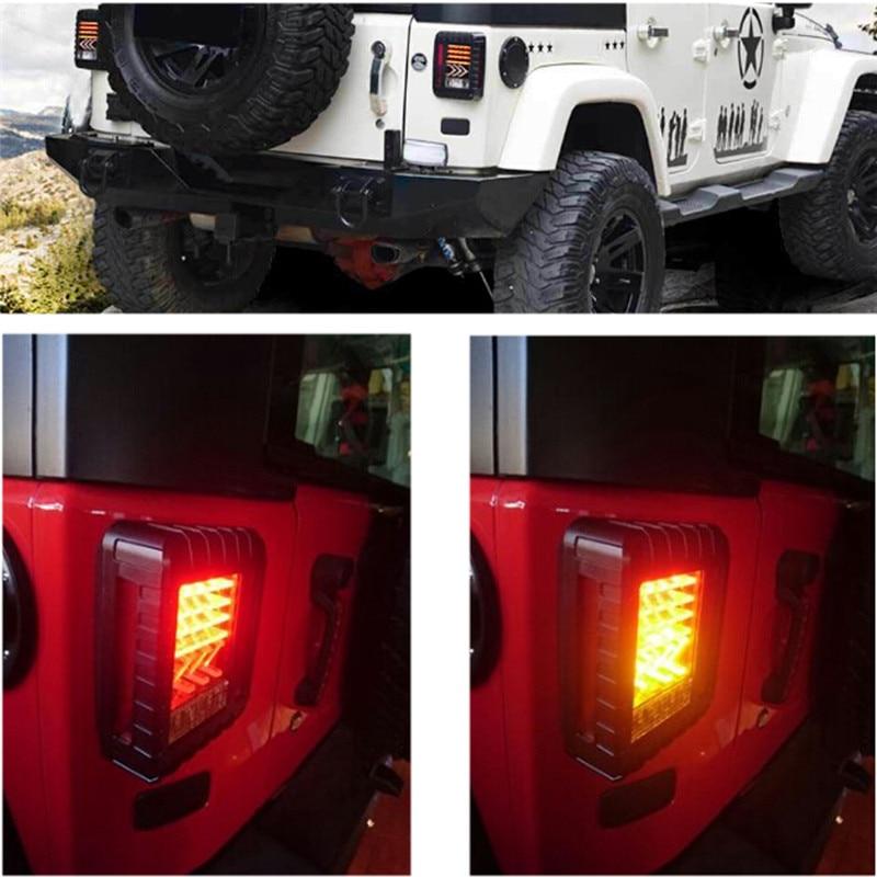 Jeep Rear Led Light LED Tail Light for 07-16 Jeep Wrangler JK JKU Brake lights