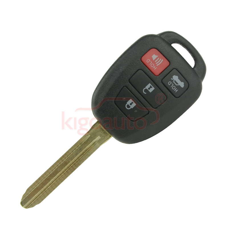 HYQ12BDM Remote key 4 button toy43 blade 314 4Mhz with G chip for Toyota Camry 2012