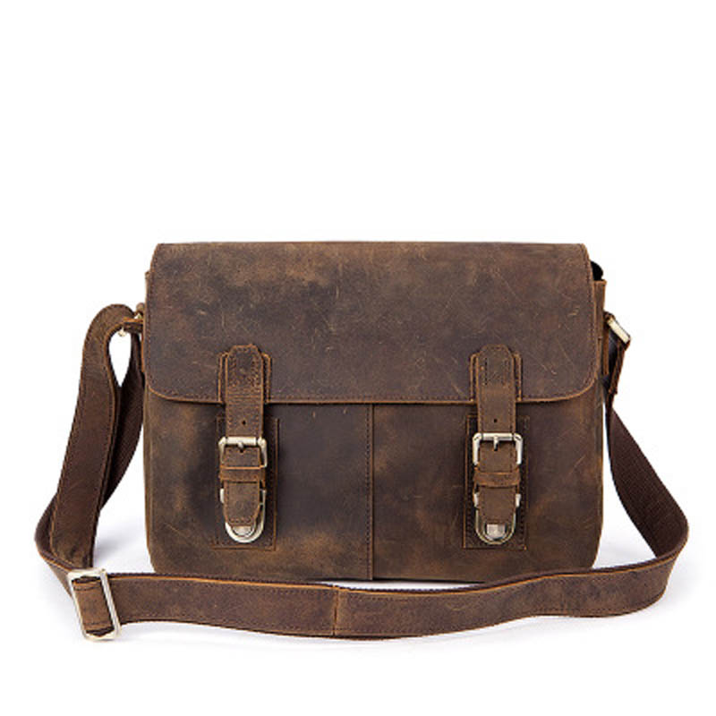YISHEN Vintage Genuine Leather Men Crossbody Bags Business Travel Messenger Bags Casual Large Capacity Male Shoulder Bag MLT2761 yishen men oxford large capacity travel