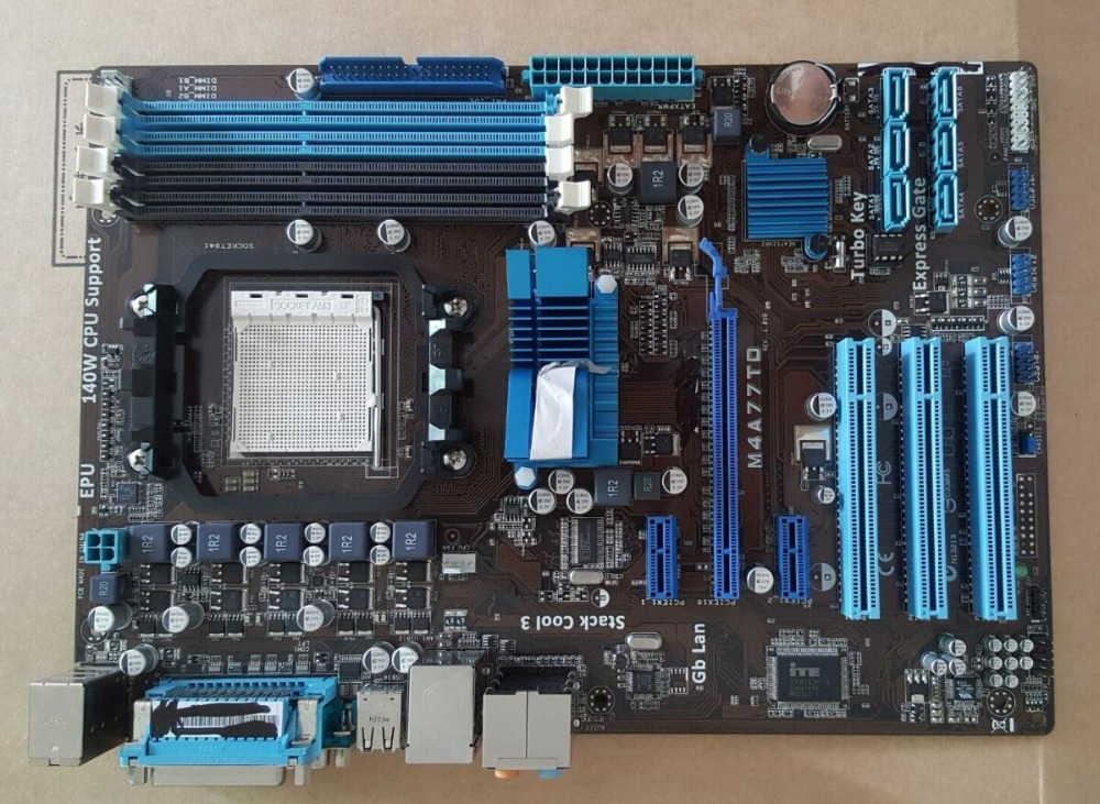 ФОТО free shipping 100% original motherboard for ASUS M4A77TD DDR3 AM3 motherboards all solid open-core 770 motherboard